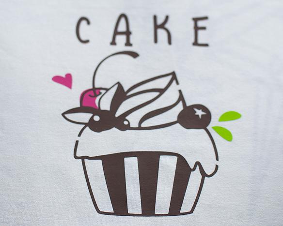 【アイロンシート】カラフルカップケーキ