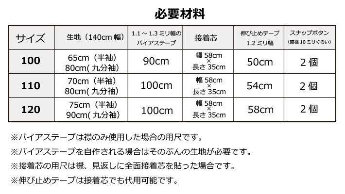【型紙】セーラーカラーTシャツ