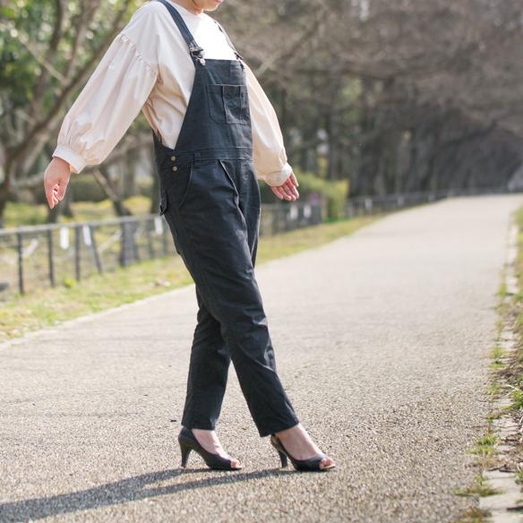 【ニット】コーティング天竺(オールドブルー)