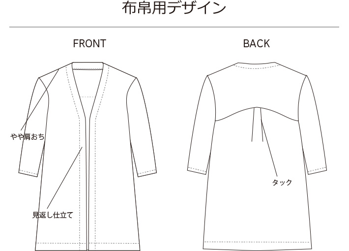 【販売用】【型紙】アイラインカーディガン(布帛・ニット用)