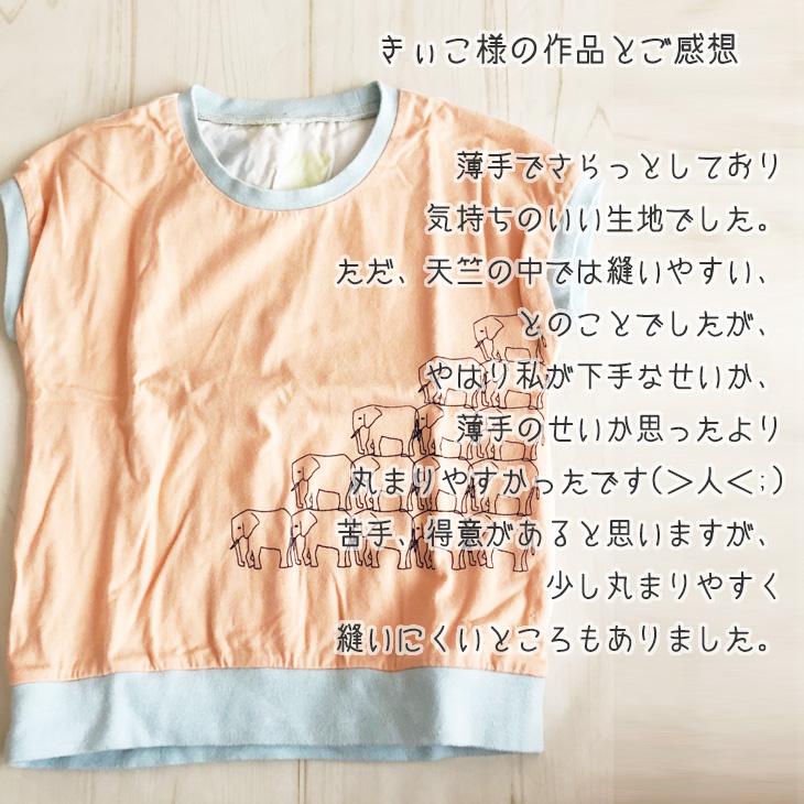 【ニット】40/2 クラシック天竺(シャーベットオレンジ)