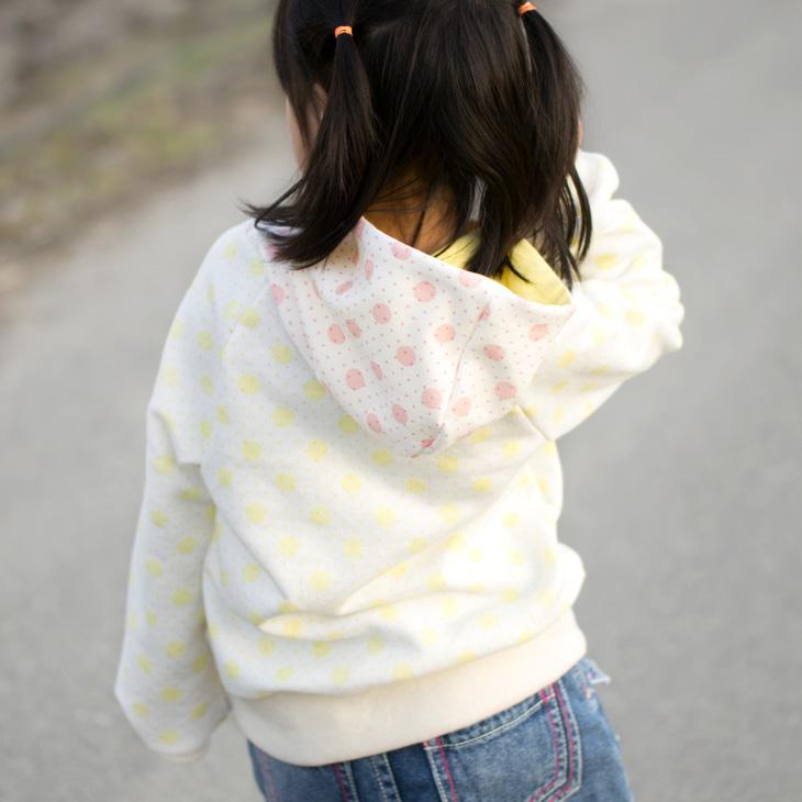 【ニット】ダブルドット・30/10裏毛ニット(イチゴ)
