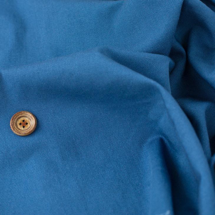 【布帛】ストレッチ・ソフトカツラギ(藍)