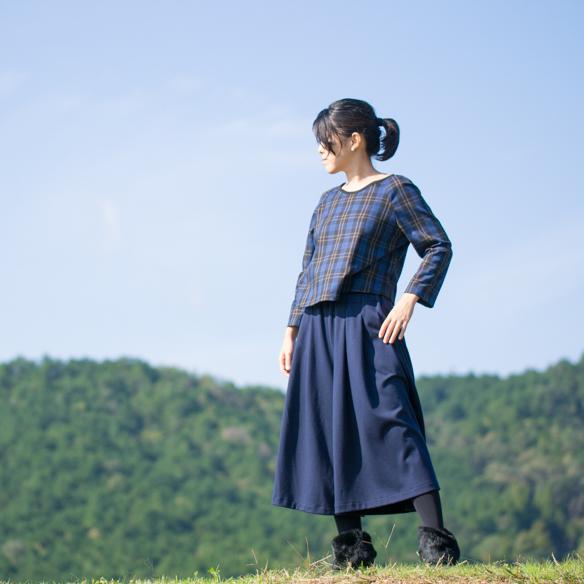 【ニット】やわらかダンボールニット(ネイビー)