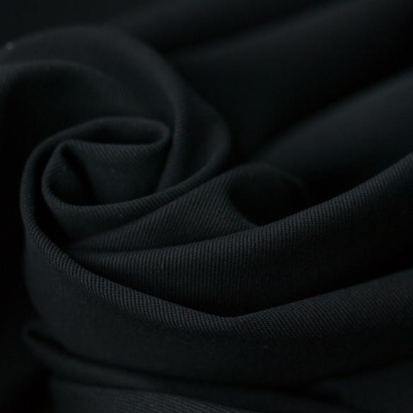 【ニット】ツイルストレッチニット(ブラック)