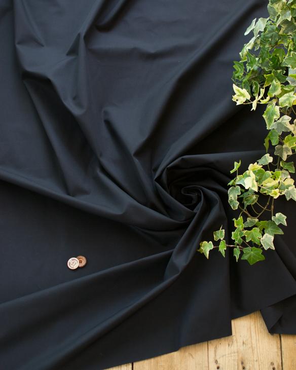 【布帛】上質なツイル・撥水加工(ブラック)