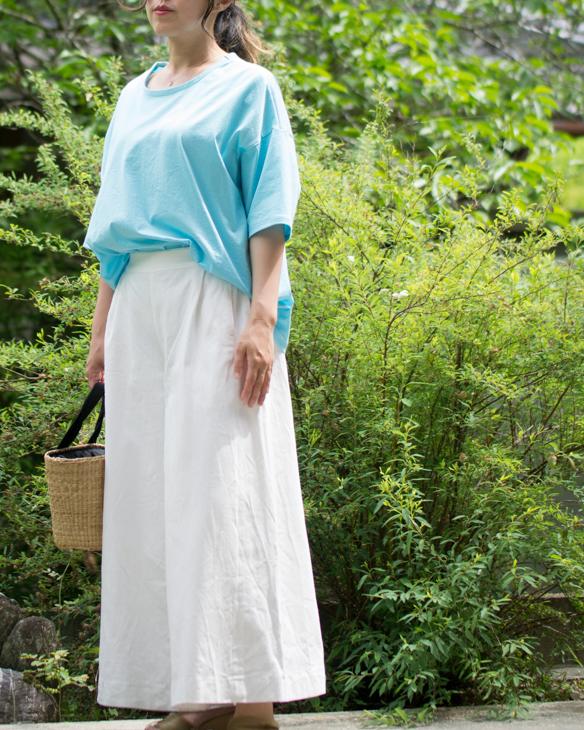 【ニット】シルケット加工のきれいな 60/2 天竺(スカイブルー)