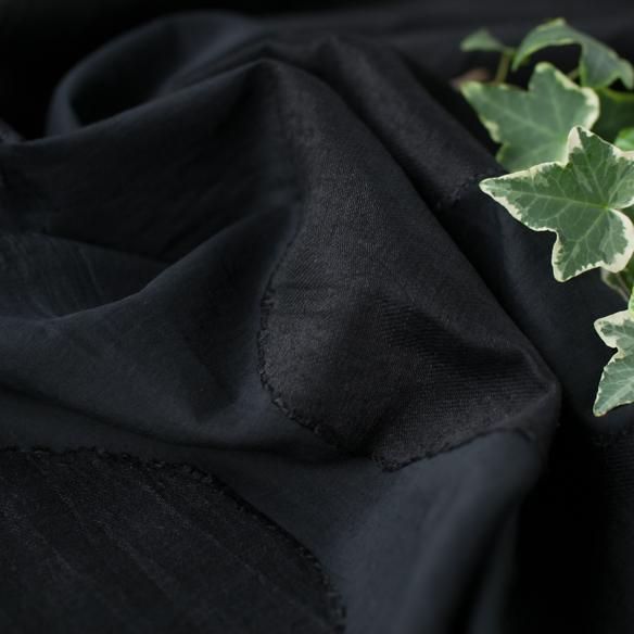 【布帛】ビックサークルジャガード(ブラック)