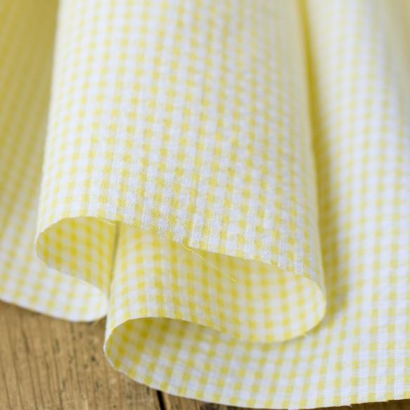 【布帛】夏のお洋服に!かわいい先染めストライプとチェックのサッカー(3種類)オーダーカット