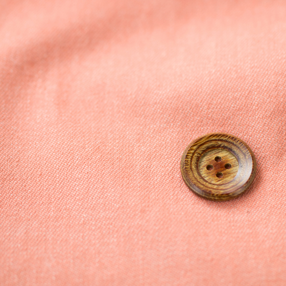 【布帛】なかなか見かけないカラーが魅力的!やわらかめコットンデニム(淡いオレンジピンク)