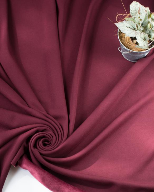 【ニット】着る毛布・ボンバーヒート(ボルドー)