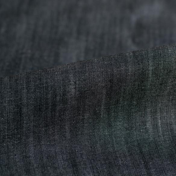 【布帛】春・夏・秋に最適!ストレッチ縦スラブデニム(ブラックインディゴ染め)