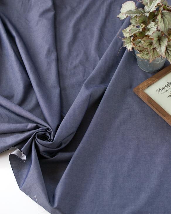 【布帛】シャツにも使える薄手デニム(デニムブルー/インディゴ染めではありません)