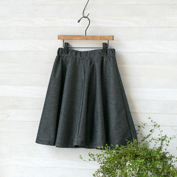 【ニット】テンション低めで縫いやすいデニムニット(ブラック)