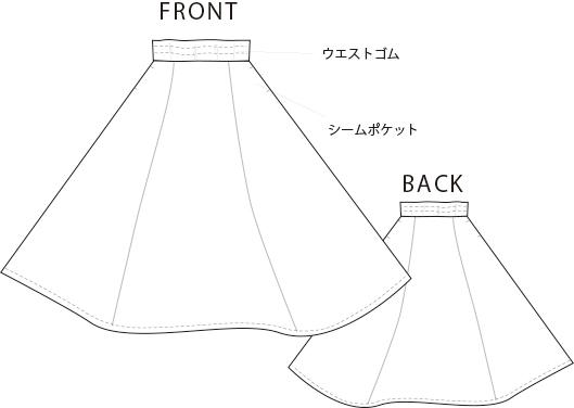【プレゼントパターン】フレアスカート(やわらかふんわりリネン用)
